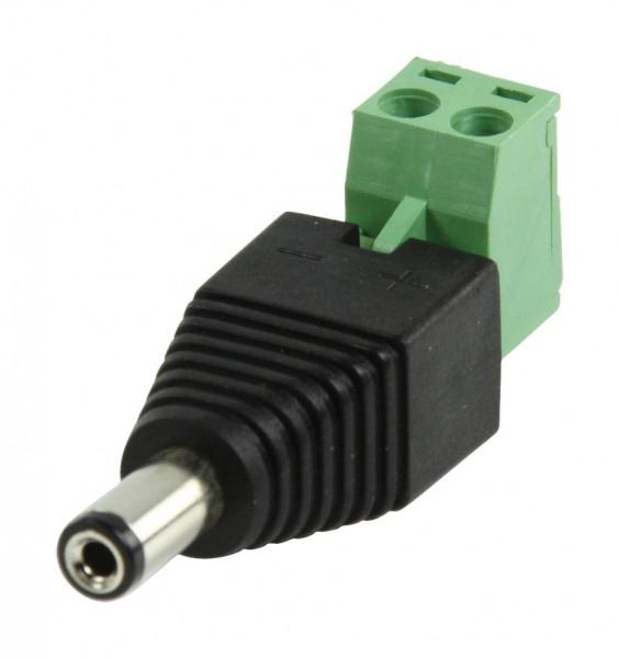 Male DC-plug adapter met kroonsteen