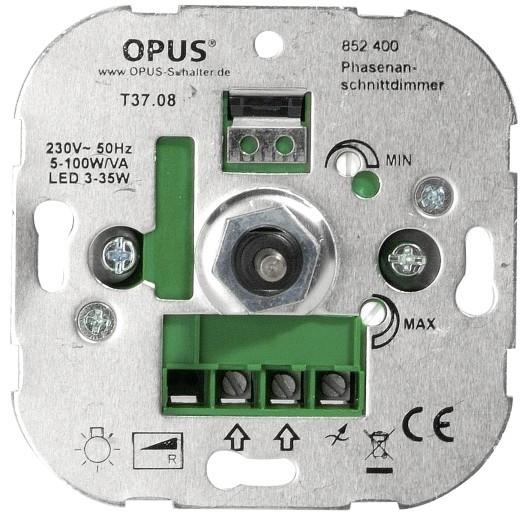 Opus LED, Gloei en halogeenlamp Dimmer 5-100W