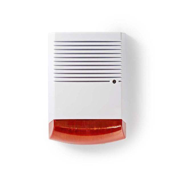 Dummy beveiligings-sirene IP44, Wit-oranje