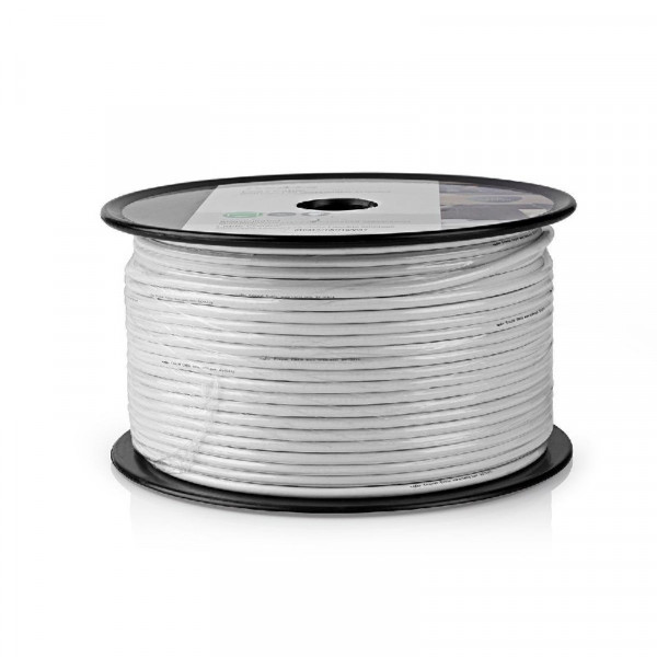 Coax kabel 100dB (dubbel afgeschermd) op rol 100m
