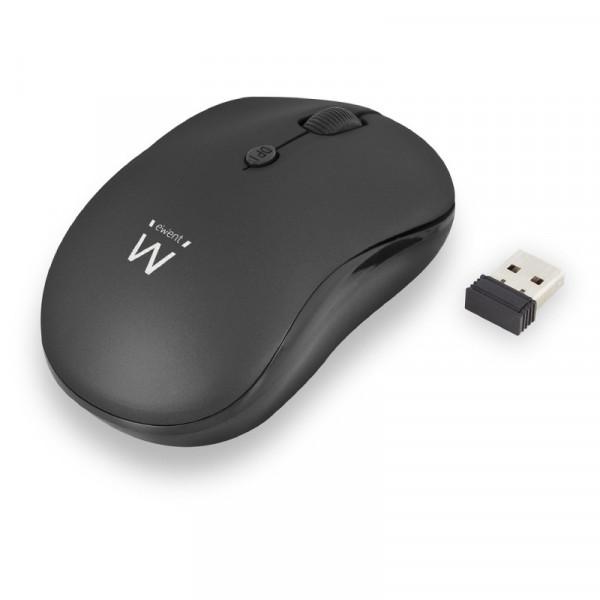 Draadloze muis met nano USB ontvanger 800-1600 DPI zwart