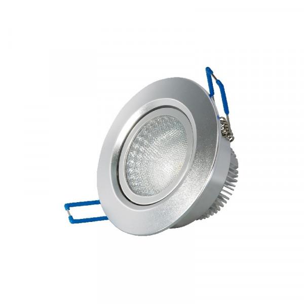 LED inbouwspot 6,5W zilver (90mm)