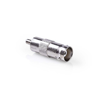BNC (v) - Mono Tulp (m) Adapter - 50 Ohm - Zilver