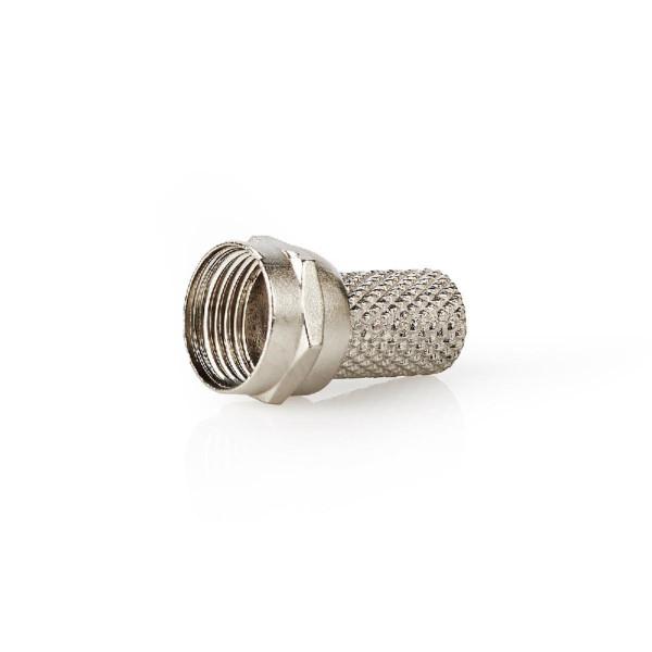 F-Connector 7.4 mm Male Metaal Zilver