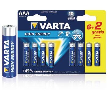 Alkaline Batterij AAA 1.5 V High Energy 8-Promotional Blister