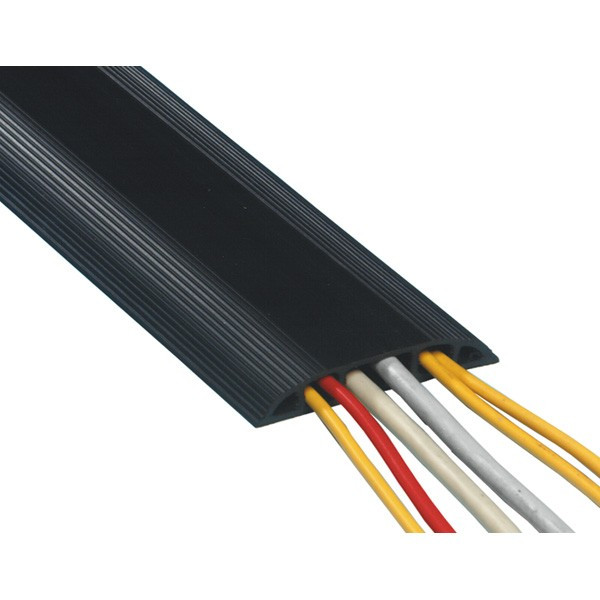 DATAFLEX PVC Vloergoot Zwart 3m