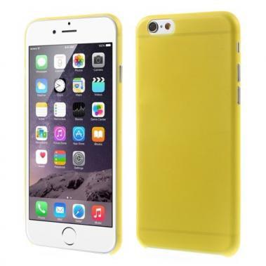 Ultra dunne Hardcase voor iPhone 6/6S Geel