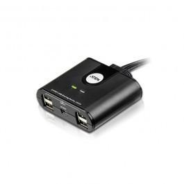 Aten US224-AT USB 2.0 2 poorts schakelaar Zwart