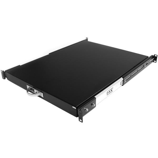 StarTech 1U 56cm Diepe Uitschuifbare Plank Serverrack Serverkast Zwart