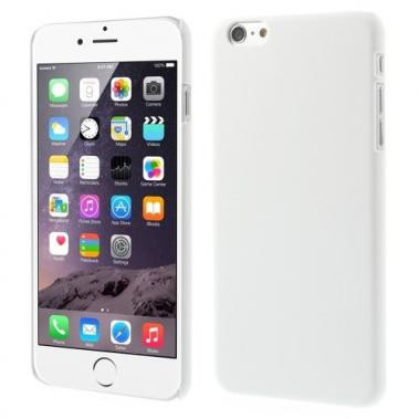 Rubberachtige Hard Case voor iPhone 6 Plus/6S Plus Wit