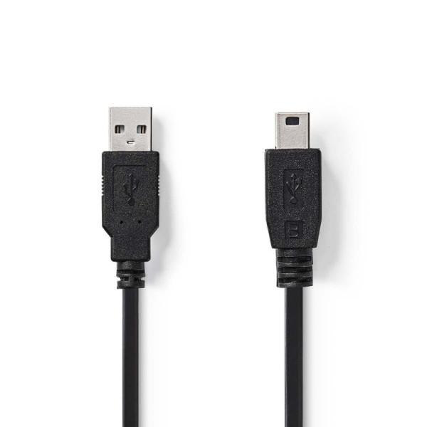 USB 2.0 Kabel Rond 2m Zwart