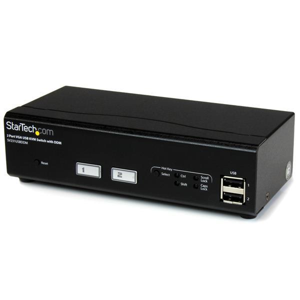 StarTech 2-poorts USB VGA KVM-switch met DDM-snelschakeltechnologie en kabels