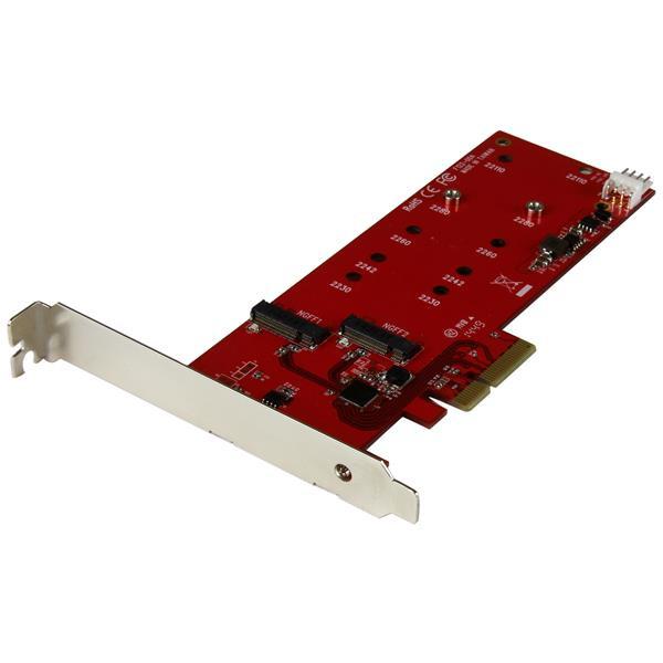StarTech 2x M.2 SSD controller kaart - PCI Express kaart