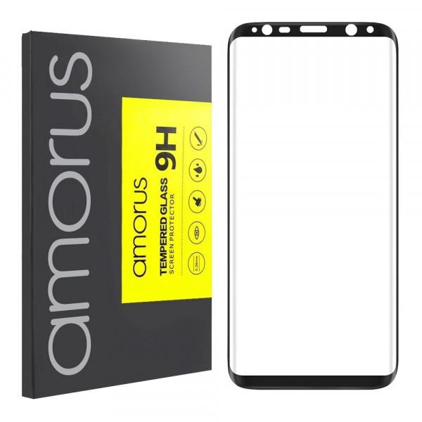 Amorus 3D Tempered Glass voor Samsung Galaxy S8+ Zwart