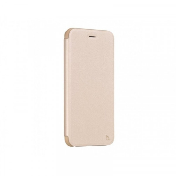 Hoco Juice series Nappaleer flipcase voor iPhone 6 Plus/6S Plus Goud