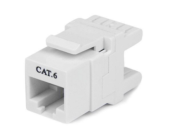 StarTech 180° Cat6 Contactbus - RJ45 Ethernet Cat6 Wandcontactbus Wit - Type 110