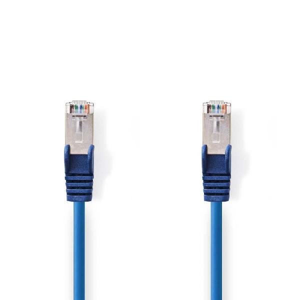 CAT5e S/FTP Netwerkkabel 0.5m Blauw