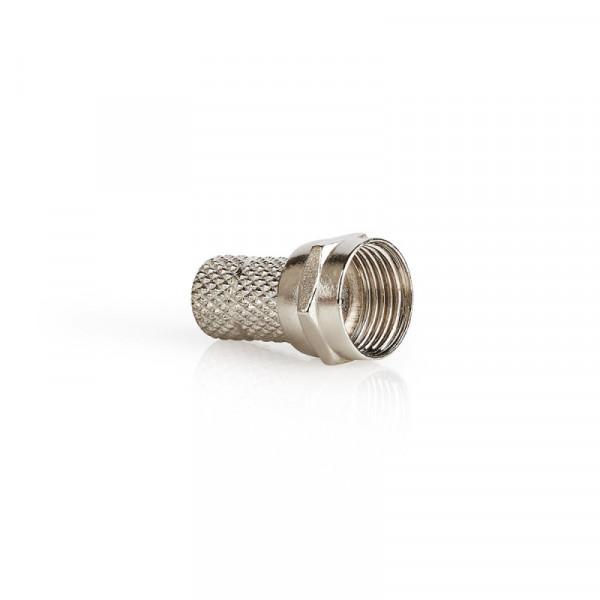 5x F-connectors twist-on 4.5mm