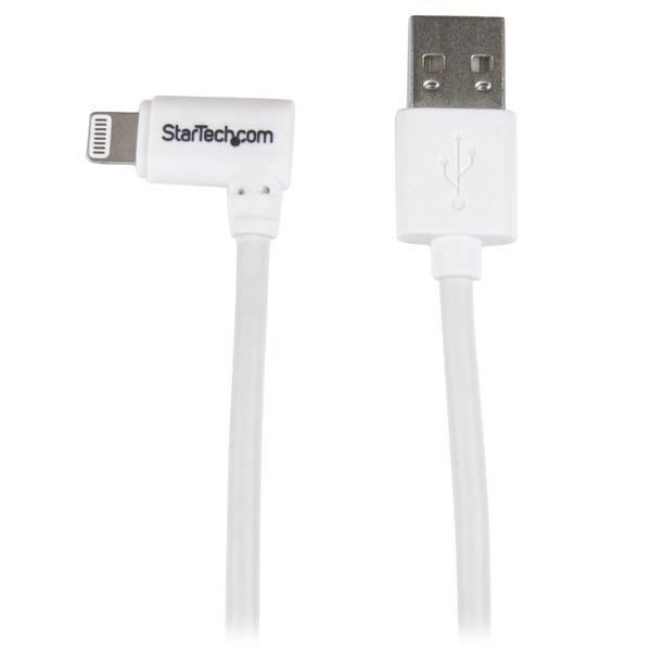 StarTech Haakse Lightning naar USB kabel 2m - wit