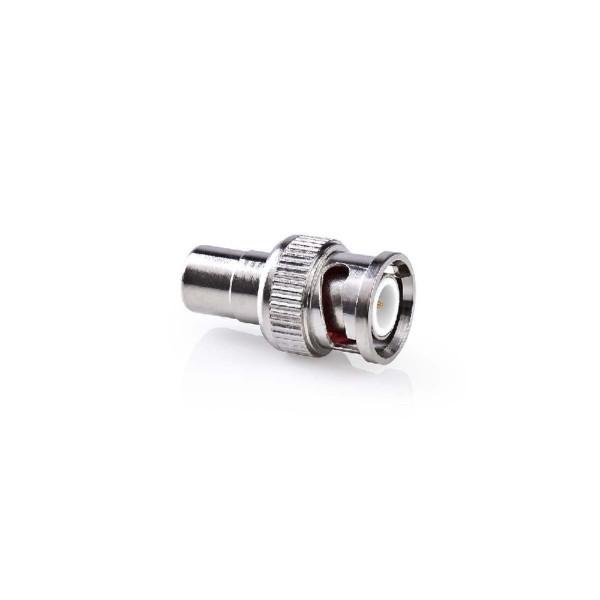 Mono Tulp (v) - BNC (m) Adapter - 50 Ohm - Zilver
