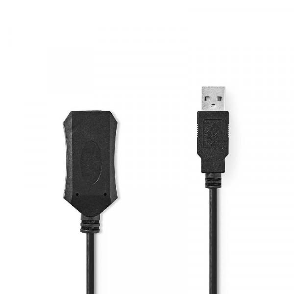Actieve USB 2.0 Verlengkabel 5m Zwart