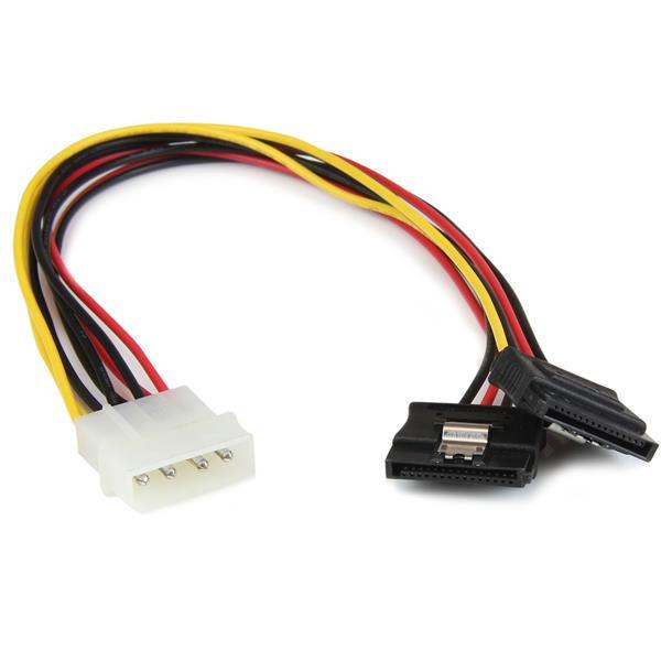 StarTech 30cm LP4 naar 2x Vergrendelbare Y-adapter Splitterkabel SATA Voeding - 4-pin Molex naar 2x