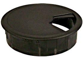 Bureaudoorvoer Kunststof 80mm Zwart