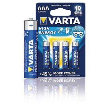 Alkaline Batterij AAA 1.5 V High Energy 4-Blister