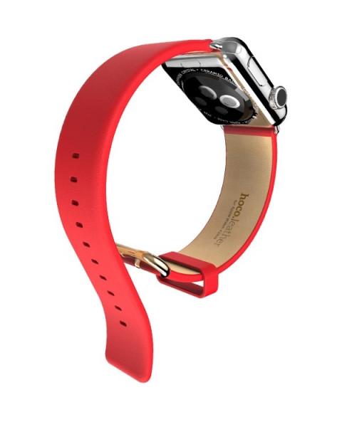 Luxe Classic Leren bandje voor Apple Watch 38/40mm Rood