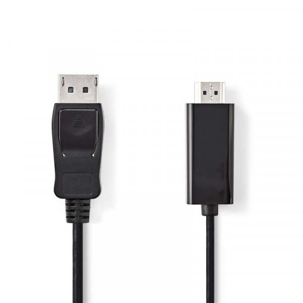 DisplayPort v1.1 naar HDMI kabel zwart 1 meter