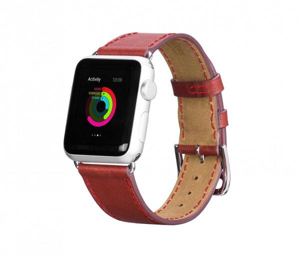 Leren Strap band voor Apple Watch 38/40mm Rood