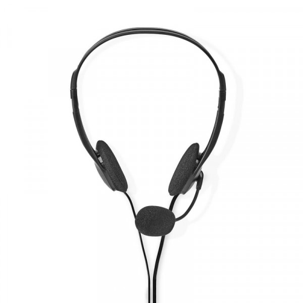 Stereo Headset - 2x 3,5mm Jack - 2 meter - Verstelbare Hoofdband - Zwart