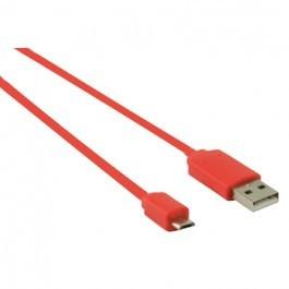 USB 2.0 A - Micro USB B Kabel 1m Rood