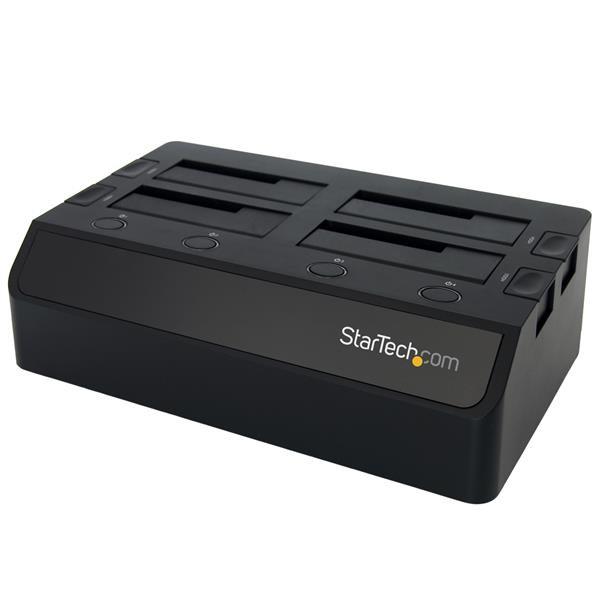 "StarTech 2,5 en 3,5"" 4-voudige SSD en HDD Docking - USB 3.0 - UASP - Sata III 6 Gbit/s - Zwart"