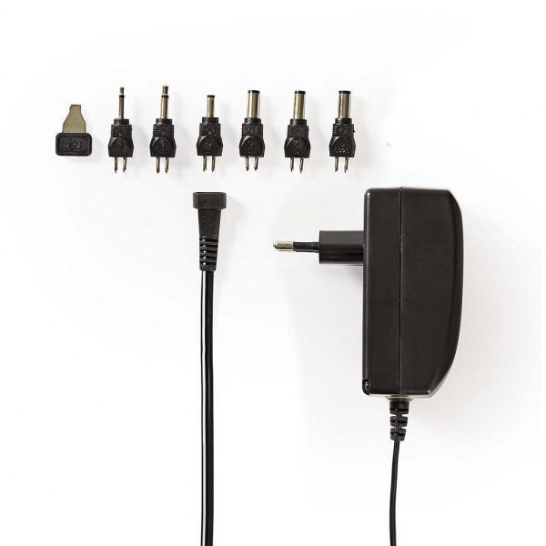 Universele AC/DC Adapter 24 Watt - 9 tot 24V met verwisselbare pluggen