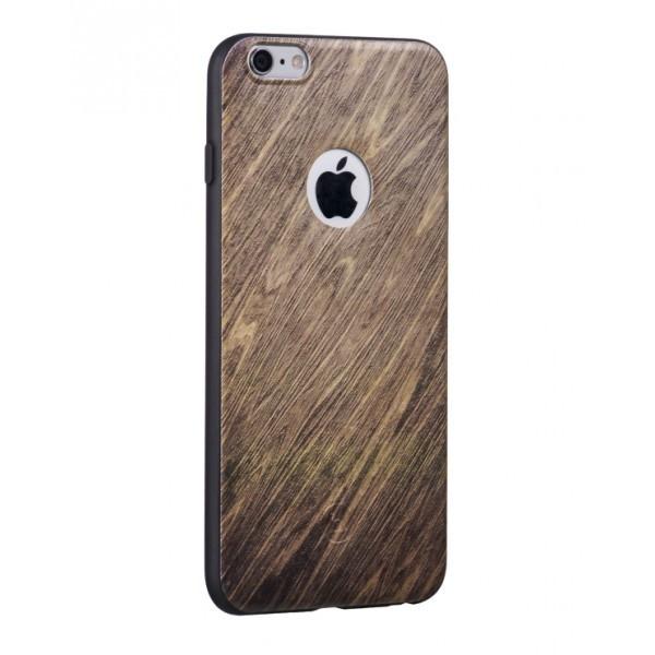 Hoco TPU case voor iPhone 6 Plus/6S Plus Beuken Hout