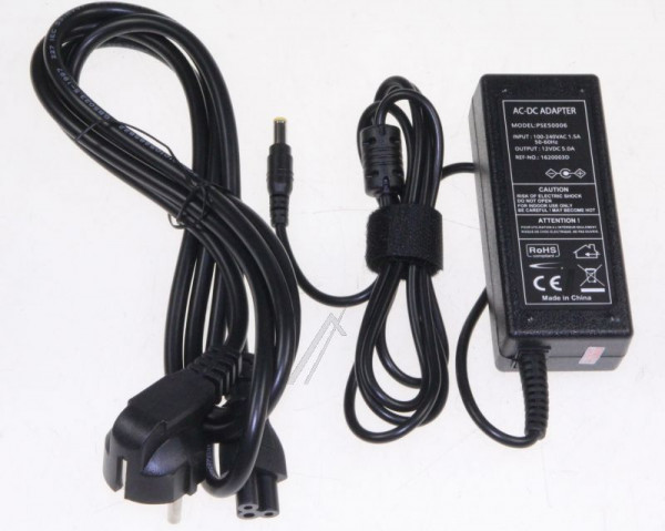 Desktop/monitor Voedingsadapter 12V 60W (5,5 x 2,5mm)
