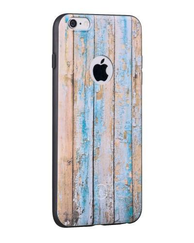 Hoco TPU case voor iPhone 6 Plus/6S Plus Verweerd Hout
