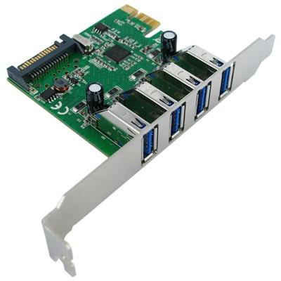 Value PCI Express kaart 4x USB 3.0