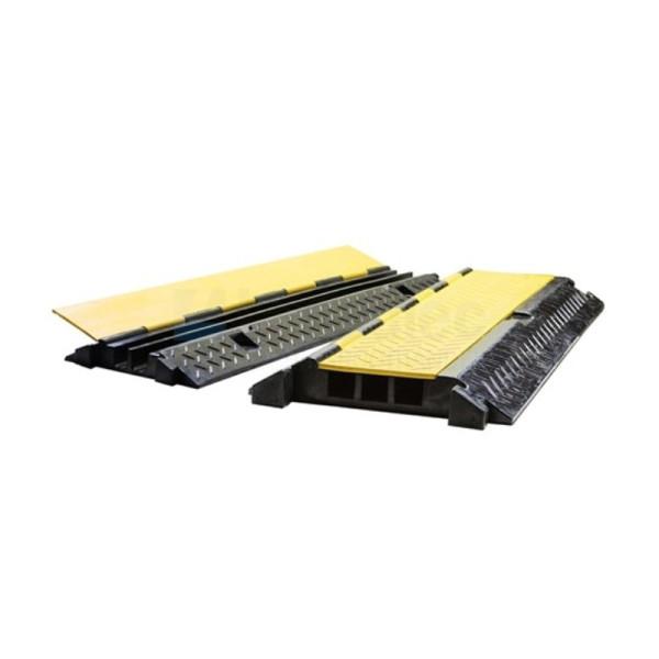 3-kanaals Rubberen kabelbrug zwart/geel 0,9m