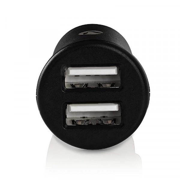 USB Mini autolader 2.4A Zwart