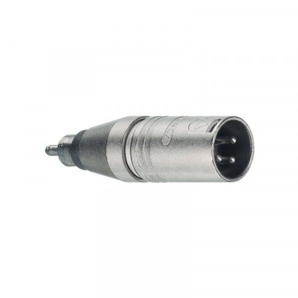 Neutrik XLR 3-pin (m) - Mono Tulp (m) Adapter - Metaal