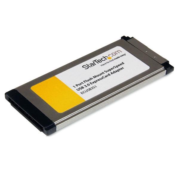 StarTech 1-poorts verzonken gemonteerde ExpressCard SuperSpeed USB 3.0 kaartadapter met UASP-onderst