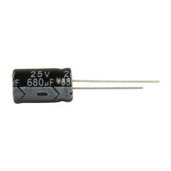 Elektrolytische Condensator 680 uF 25 VDC