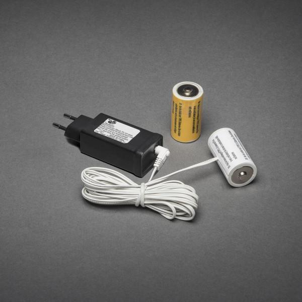 230V - 2x C Adapter voor batterijartikelen