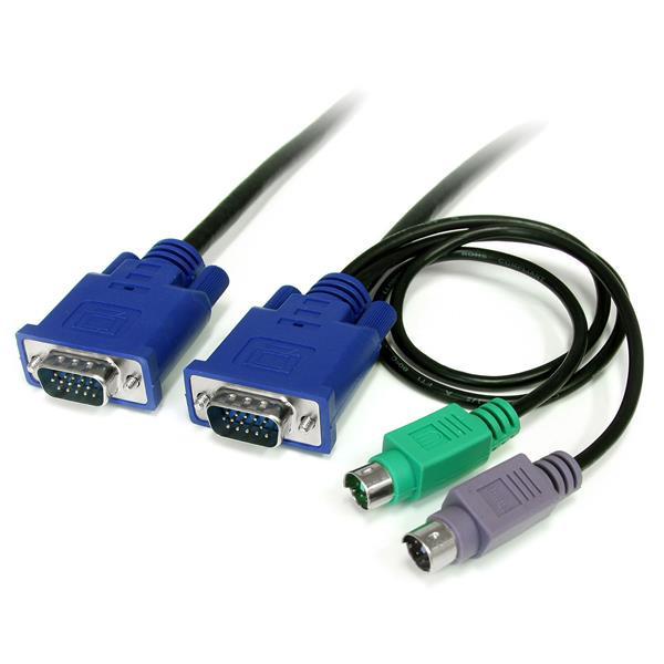 StarTech 1,80 m Ultradun 3-in-1 PS/2 KVM-kabel