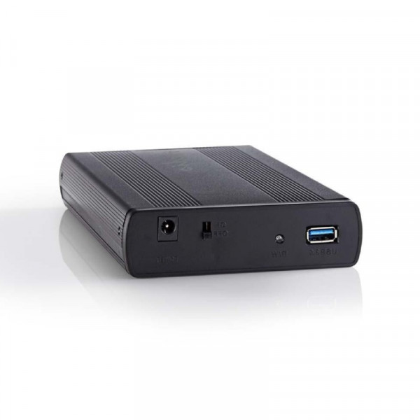 "SATA 3.5"" harde schijf-behuizing USB 3.0 Zwart"