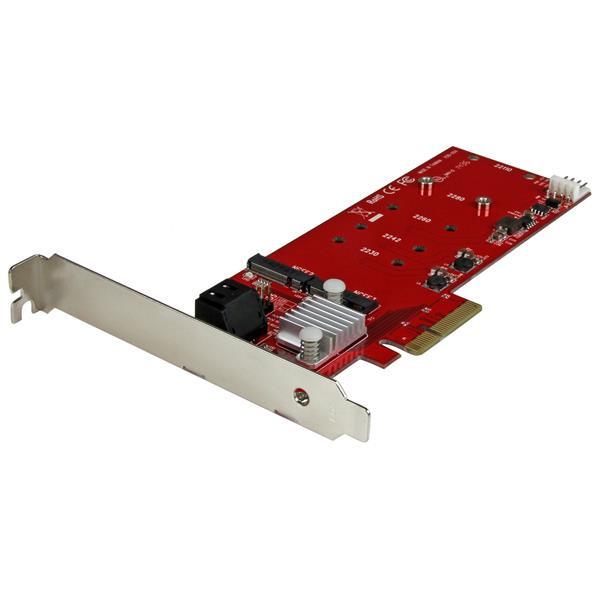 StarTech 2x M.2 NGFF SSD RAID controller kaart met 2x SATA III poorten - PCIe