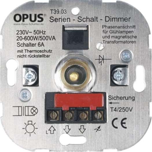 Opus serie/draai dimmer