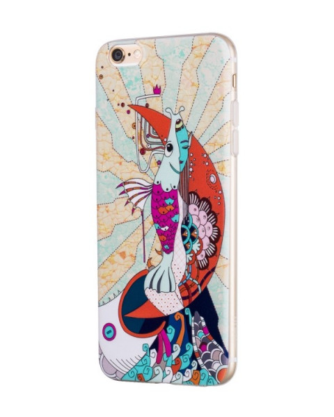 Hoco Mythology Mermaid case voor iPone 6/6s Wit